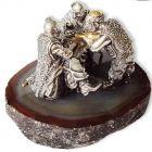 Серебряная статуэтка с позолотой «Казаки за столом»
