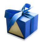 Подарочная упаковка для кольца, сережек или набора «Синяя»