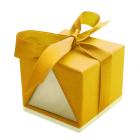 Подарочная упаковка «Желтая» для кольца, сережек, набора