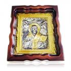 Срібна ікона «Святий Миколай»