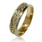 """Золотое обручальное кольцо """"Листочек"""""""