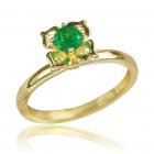 Золотое кольцо с изумрудом «Прекрасный цветок»