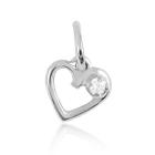 Золотой кулон с бриллиантом «День Святого Валентина»