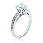 Золотое кольцо с цирконием «Amadeo»
