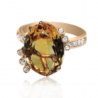 Золотое кольцо с цитрином «Лесное озеро»