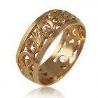 """Золотое обручальное кольцо """"Возрождение"""""""