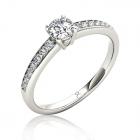 Золотое помолвочное кольцо с куб.цирконием «Для принцессы»