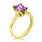 Золотое кольцо с аметистом «Zoya»