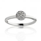 Золотое женское  кольцо с цирконием «Фортуната»