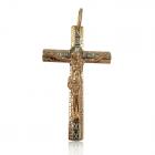 Золотой крестик «Узорчатый»