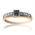 Золотое кольцо с сапфиром «Звездная ночь»