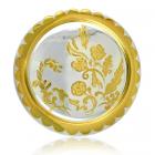 Серебряный поднос с позолотой «Подарочный»