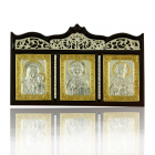Икона-триптих в серебре