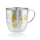 Серебряная чашка «Ромашки»