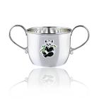 Кружка-поилка из серебра для детей «Панда»