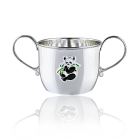 Кружка-поїлка зі срібла для дітей «Панда»