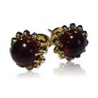 Ексклюзивні золоті сережки з гранатами «Чорниці»