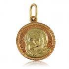 Золотая ладанка «ПРЕСВЯТАЯ ДЕВА»