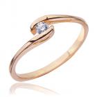 Золоте кільце з діамантом «Білий принц»