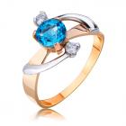 Золотое кольцо с топазом swiss «Блики неба»
