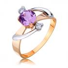 Золотое кольцо с аметистом «Блики неба»