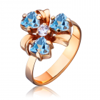 """Золотое кольцо с топазом """"Violetta"""""""