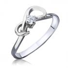 Золоте кільце з діамантом «Ніжність»