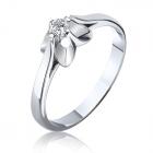Кольцо с бриллиантом в белом золоте