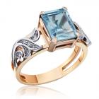 Золотое кольцо с топазом «Модный приговор»