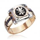 Золотой перстень с сапфирами