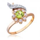 Золотое кольцо с хризолитом «Эсферо»