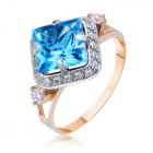 Золотое кольцо с топазом «Revelación»