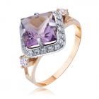 Перстень золотий з аметистом «Revelación»