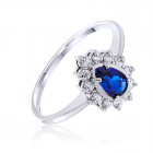 Золотое кольцо с сапфиром «Королевский шик»