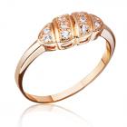 Золотое кольцо с цирконами «Динара»