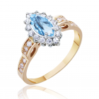 Золотое кольцо с топазом  «Виктория»