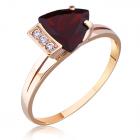 Золотое кольцо с гранатом «Элизабет»
