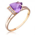Золотое кольцо с аметистом «Элизабет»