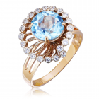 Золотое кольцо с топазом «Санта»