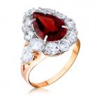 Золотое кольцо с гранатом «Фантазия»
