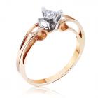 Кольцо из золота 585 пробы с бриллиантом на помолвку