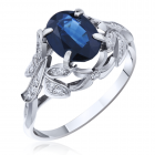 Золотое кольцо с сапфиром «Cuore»