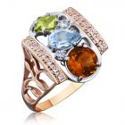 Золотое кольцо с топазом «Анфиса»
