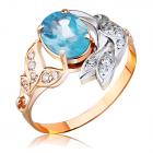 Золотое кольцо с топазом «Корица»