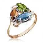 Золотое кольцо с самоцветами «Моя милая»