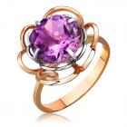 Золоте кільце з аметистом «Твоя мрія»