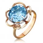 Золотое кольцо с топазом «Твоя мечта»