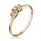 Золотое кольцо с тремя камнями «Джемма»