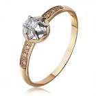 Недорогое золотое кольцо с фианитами