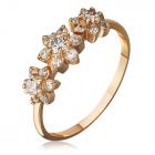 Золотое кольцо с цирконием купить